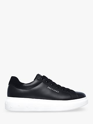 Skechers High Street Leather Lace Up Trainers, Black