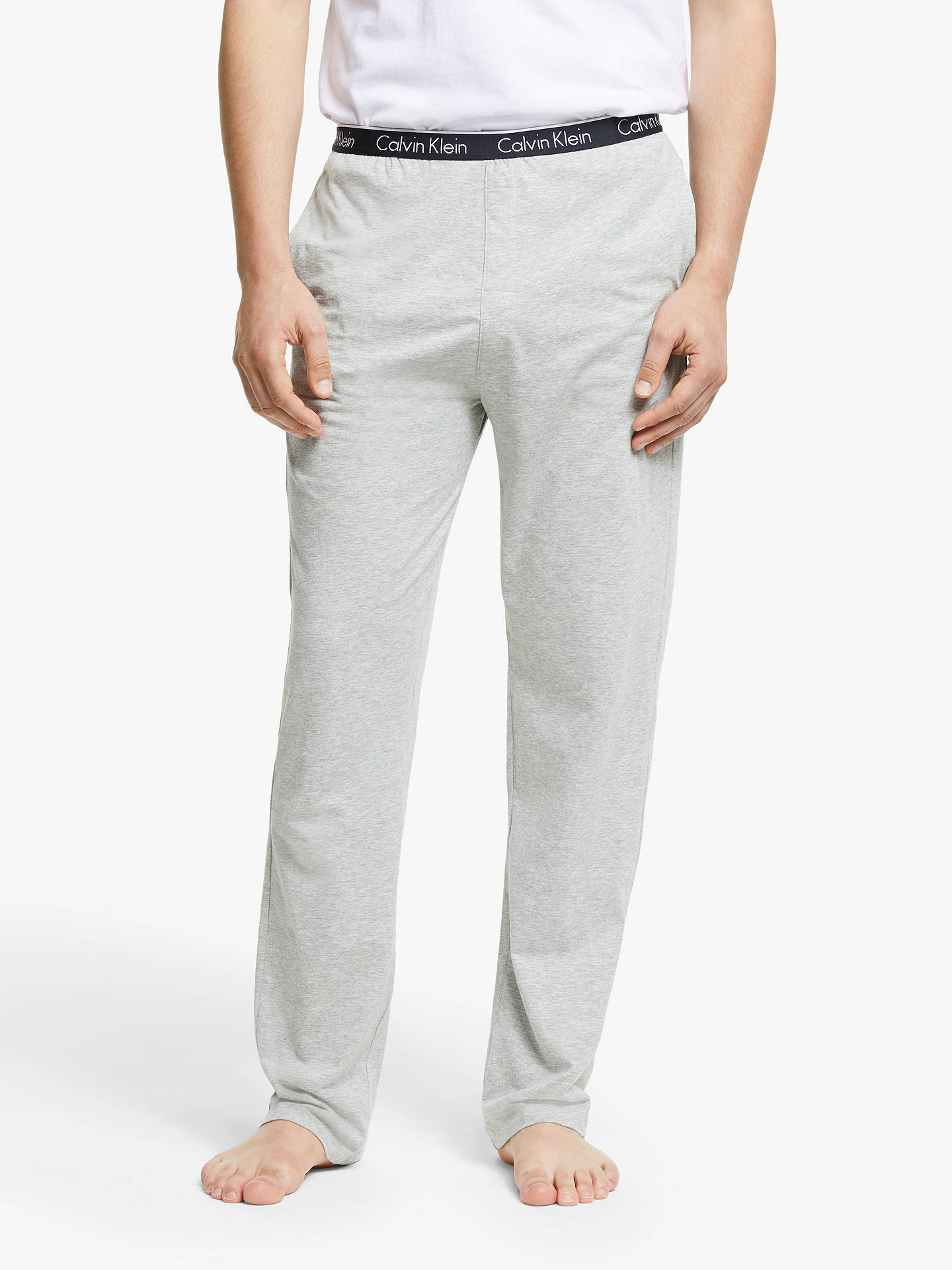 5a5026df86959 Buy Calvin Klein Jersey Cotton Lounge Pants, Grey, S Online at  johnlewis.com ...