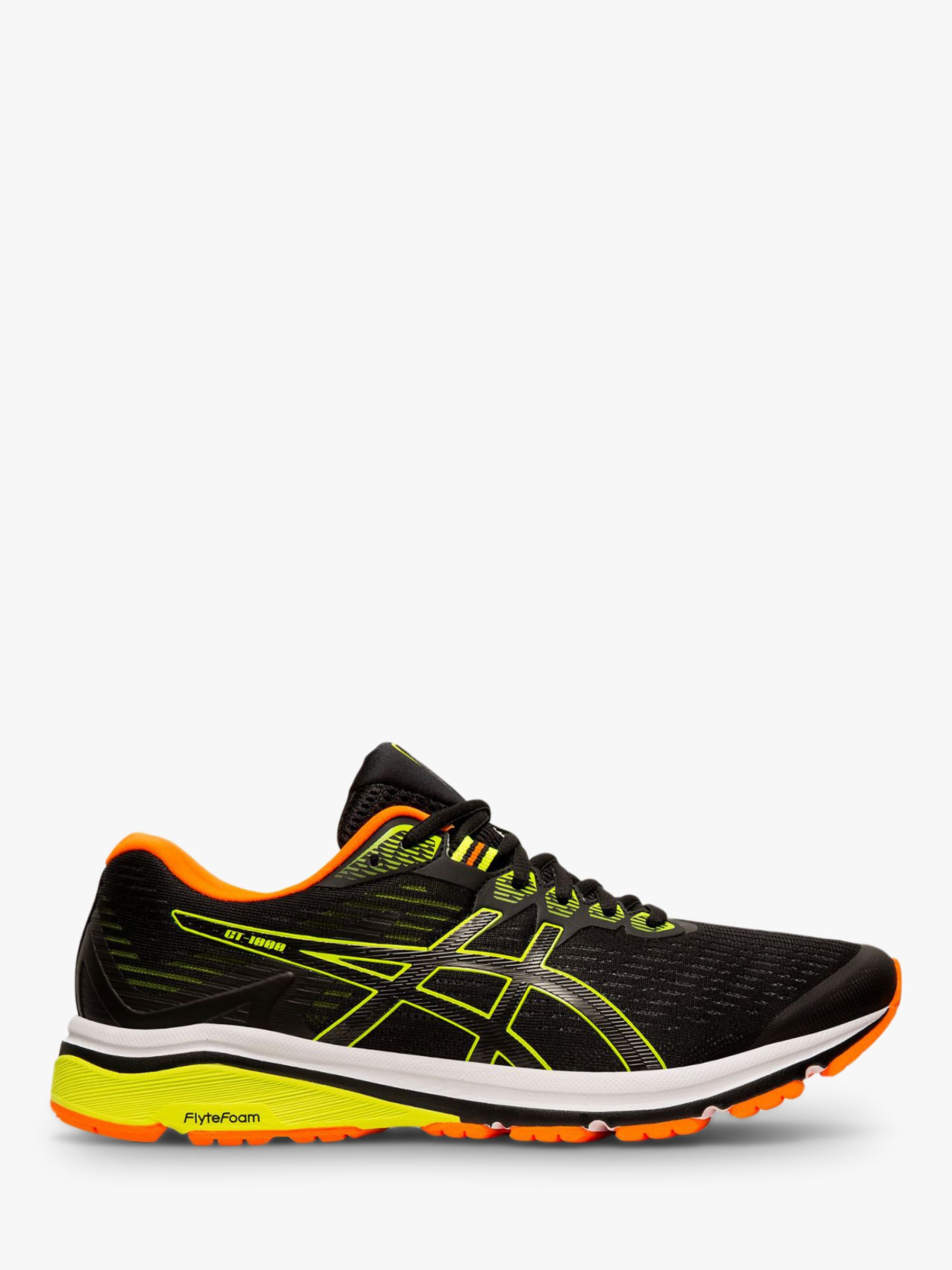 finest selection f4be3 9164d ASICS GT-1000 8 Men's Running Shoes, Black/Safety Yellow