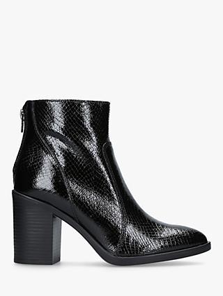 1fb7f60e8fa93 Kurt Geiger London Sly Block Heel Ankle Boots, Black Patent Leather