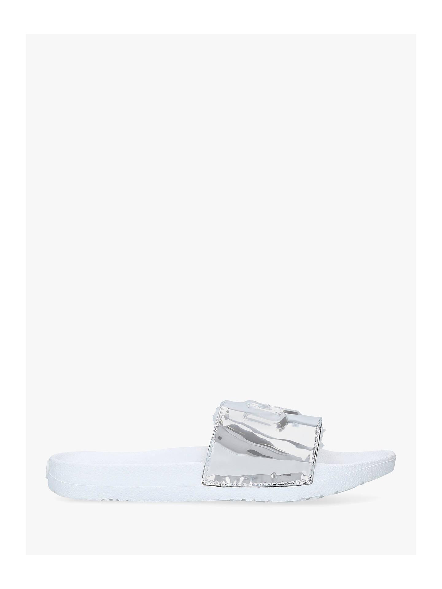133e901d9 Buy UGG Royale Graphic Metallic Slider Sandals, Silver, 3 Online at  johnlewis.com ...