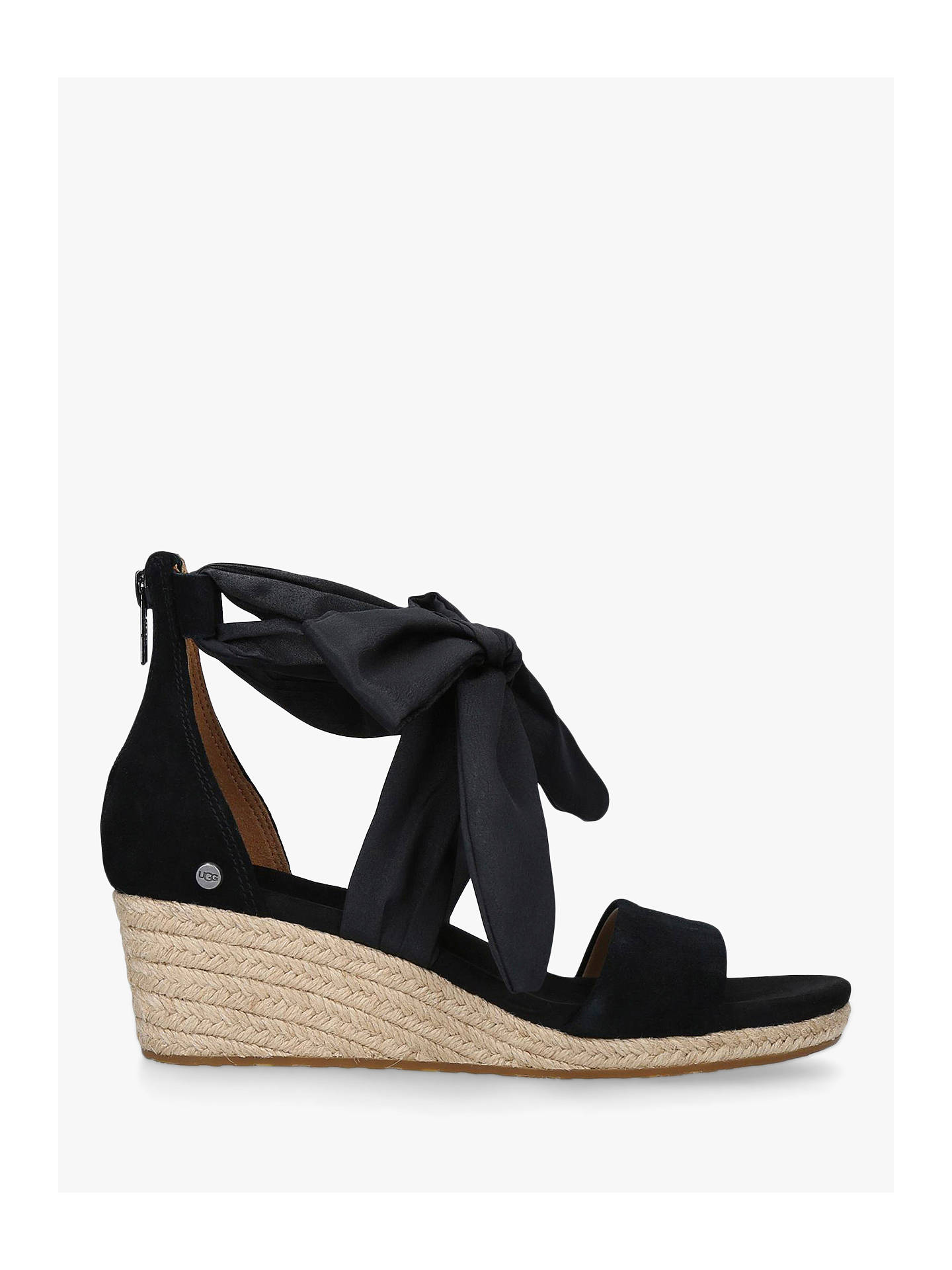 27e5c159d47 UGG Trina Suede Tie Detail Wedge Heel Sandals at John Lewis & Partners