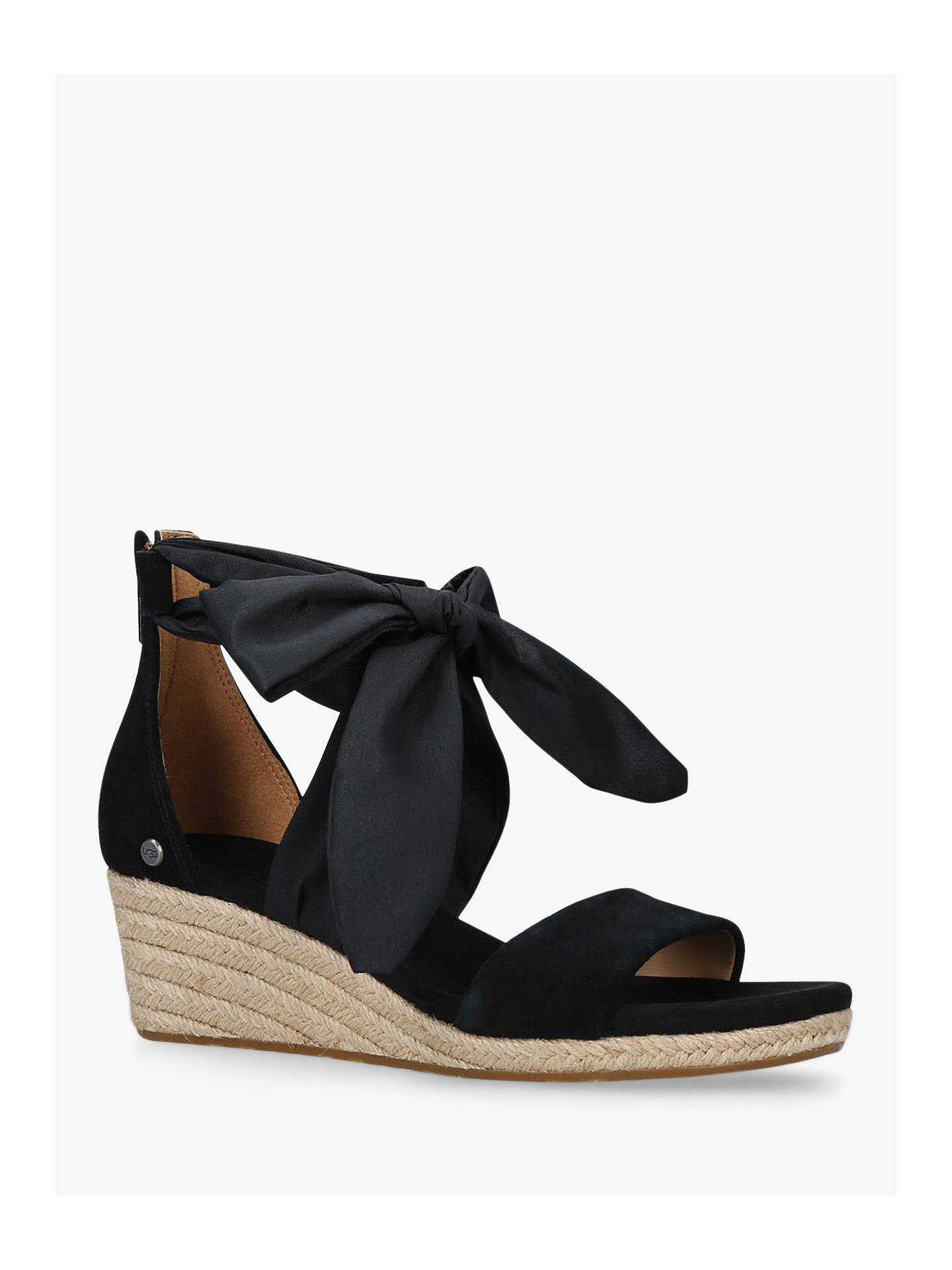 8964f9f8eb5 UGG Trina Suede Tie Detail Wedge Heel Sandals at John Lewis & Partners