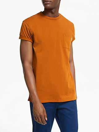 Scotch & Soda Classic Cotton Crew Neck T-Shirt, Burned Orange