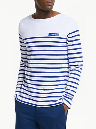 Scotch & Soda Breton Striped Long Sleeve T-Shirt, Blue/Multi