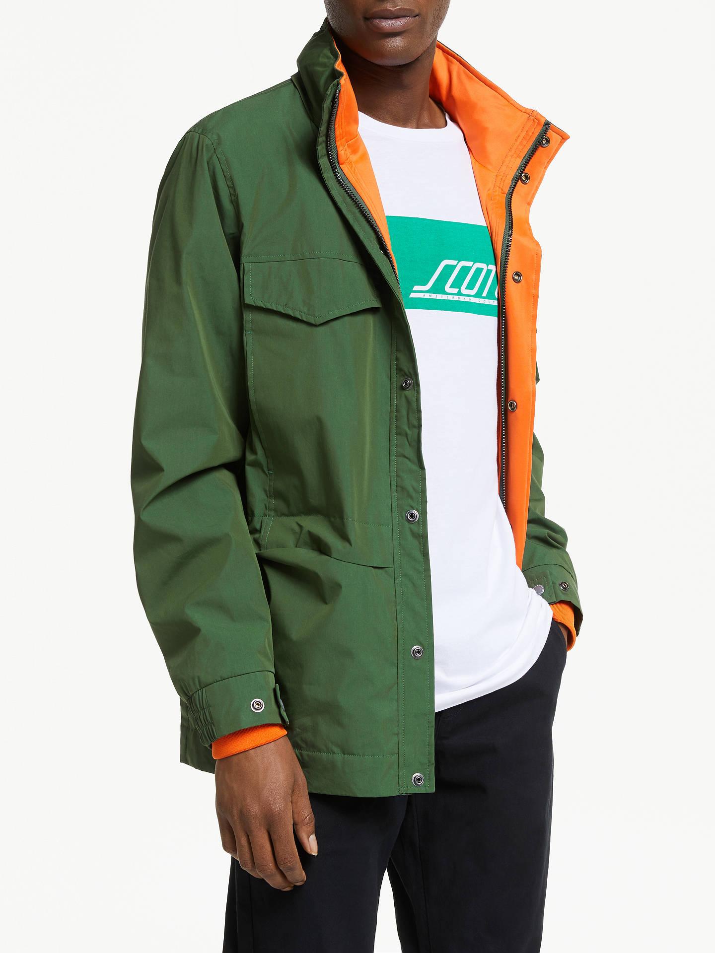 Scotch & Soda Pocket Military Jacket, Military Green