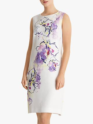 Fenn Wright Manson Petite Floral Shift Dress, Ivory/Multi