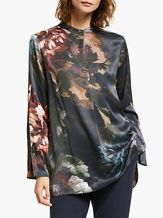 Modern Rarity Large Printed Bloom Shirt, Blue