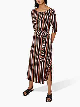 e4fc838501 Warehouse Stripe O-Ring Midi Dress