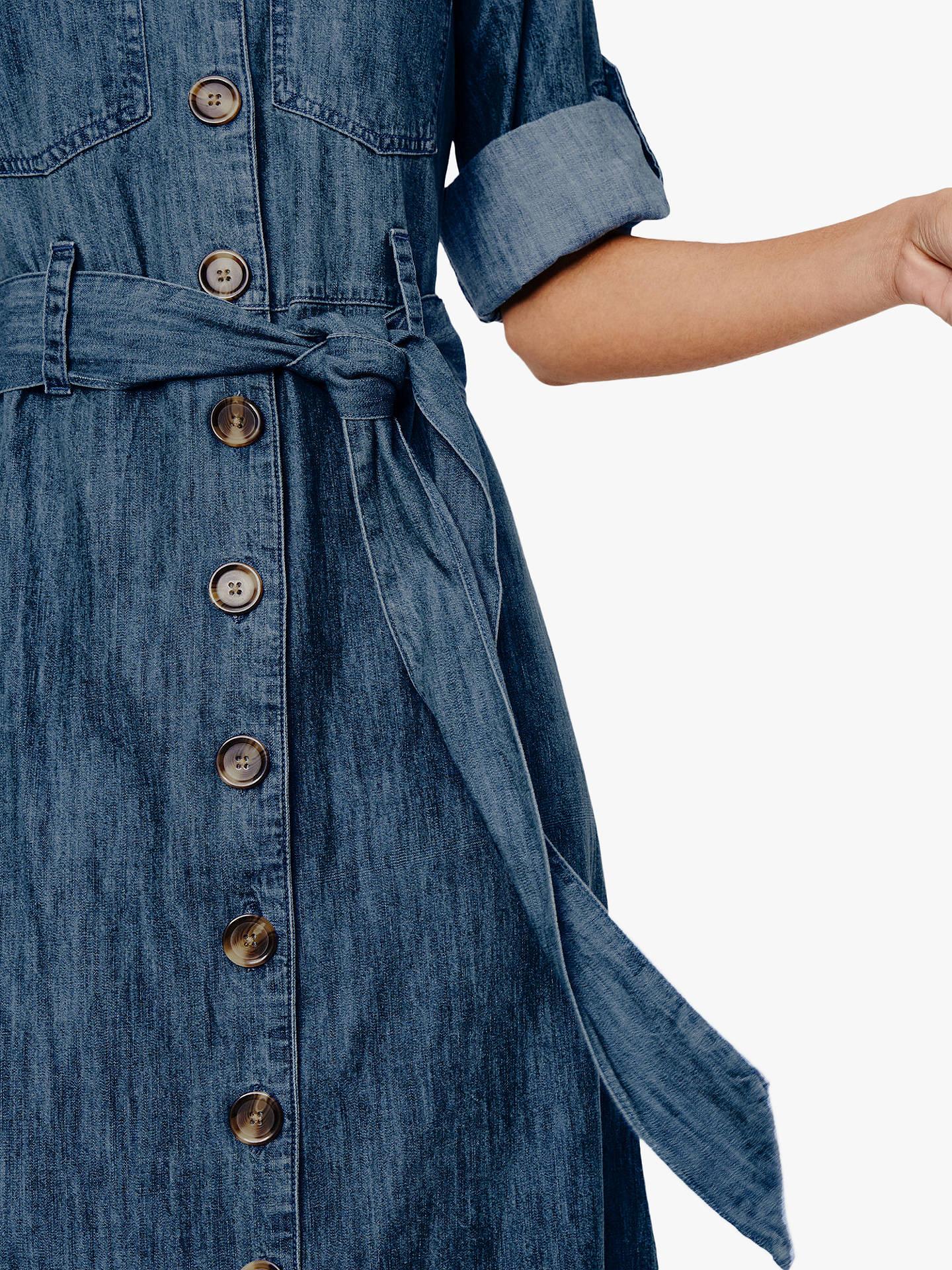 warehouse denim maxi shirt dress 7629d1