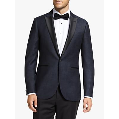 John Lewis & Partners Peak Italian Wool Jacquard Semi Plain Tailored Dress Suit Jacket