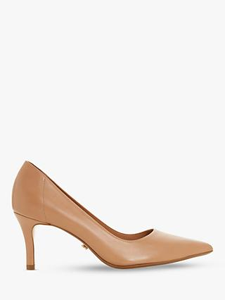 Dune Andrie Stiletto Court Shoes, Caramel Leather