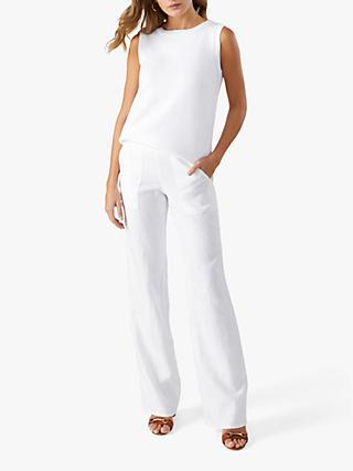 Pure Collection Wide Leg Linen Trousers