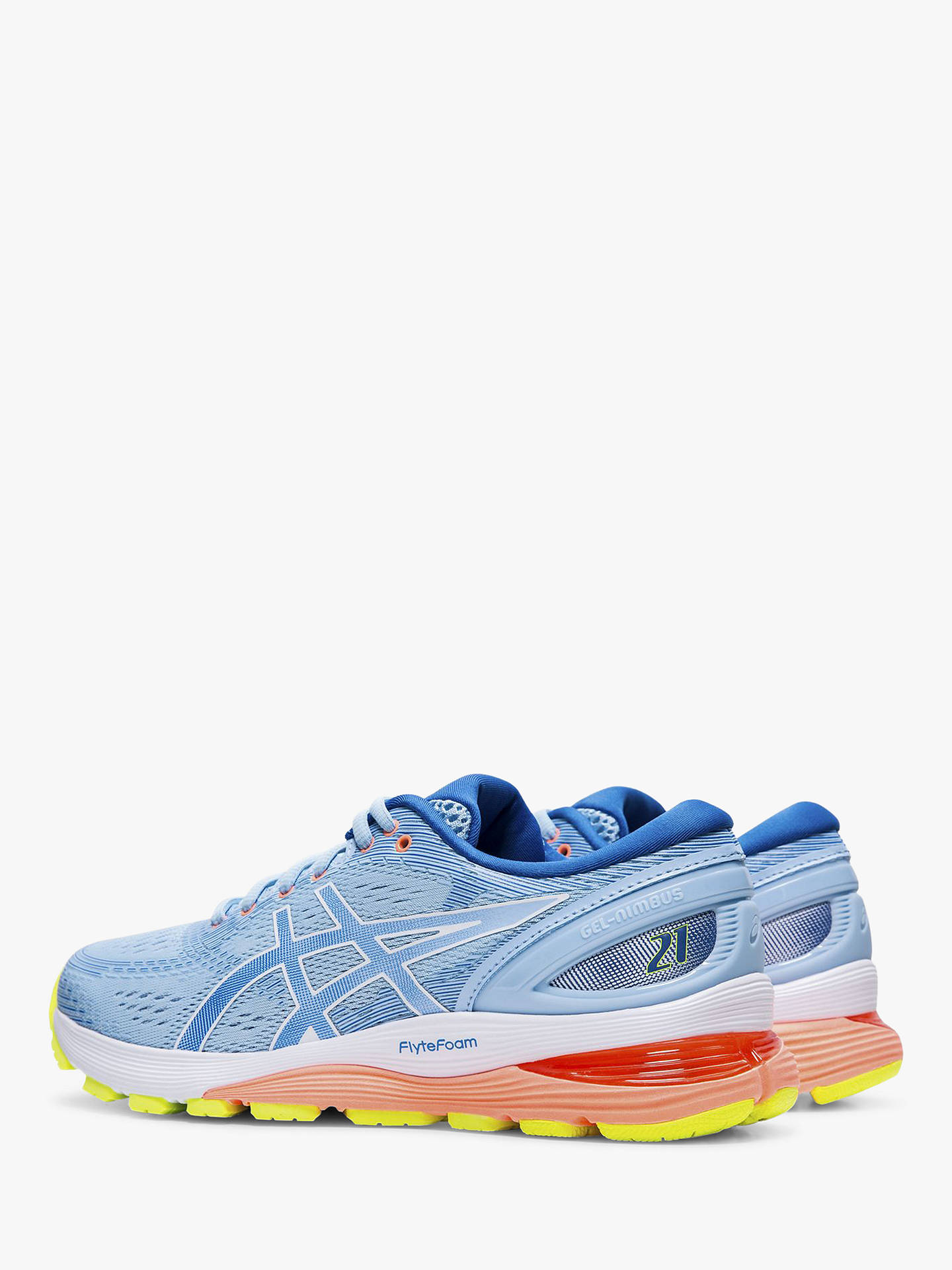 Buy ASICS GEL-NIMBUS 21 Women's Running Shoes, Blue/Lake Drive, 4 Online at johnlewis.com