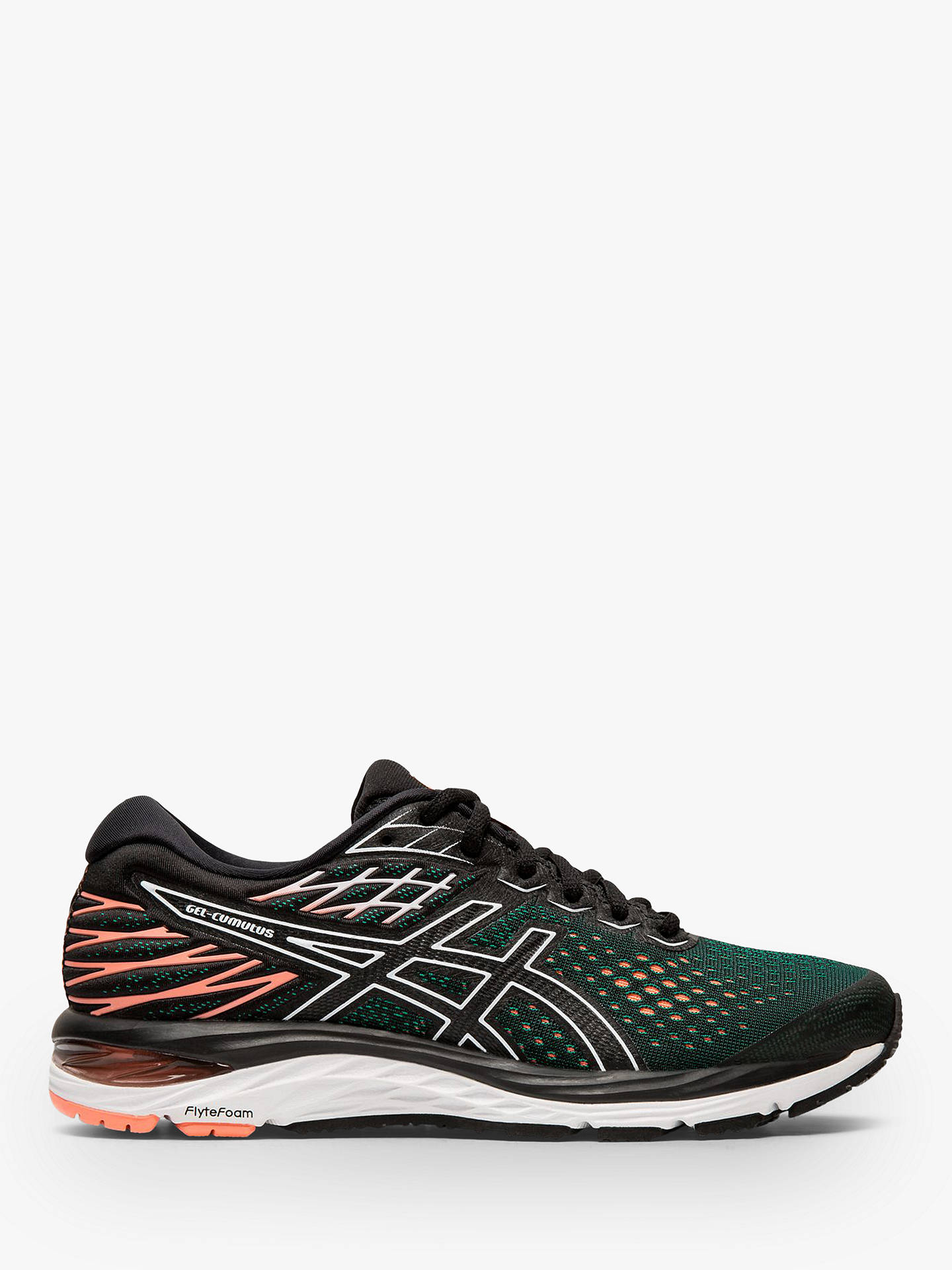 best website 6dc3e e6310 ASICS GEL-CUMULUS 21 Women's Running Shoes, Black/Sun Coral