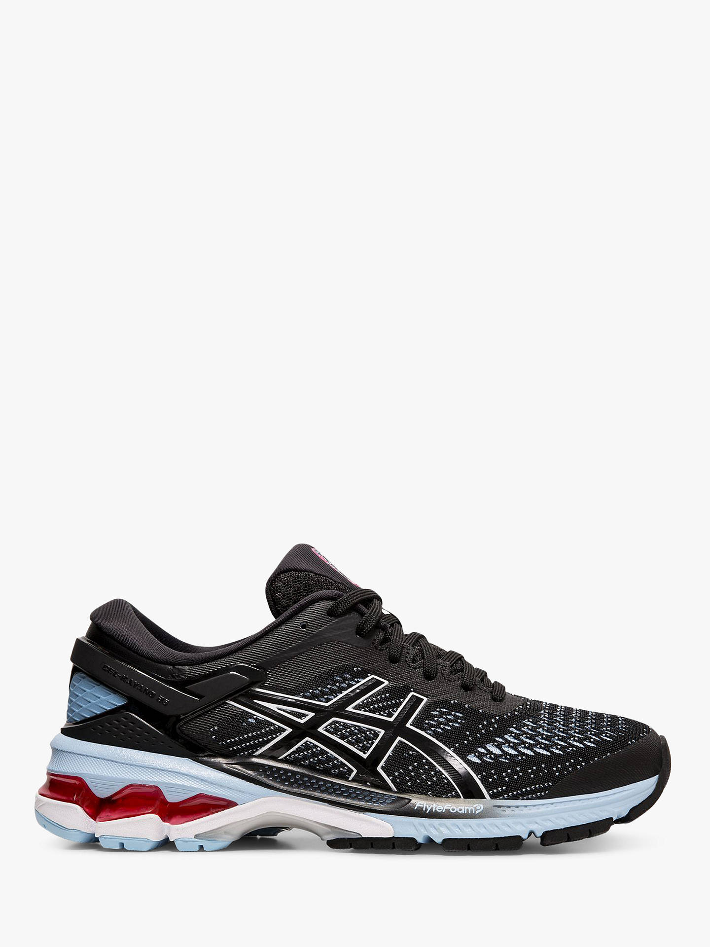 finest selection 68fad 59d4a ASICS GEL-KAYANO 26 Women's Running Shoes, Black/Heritage Blue
