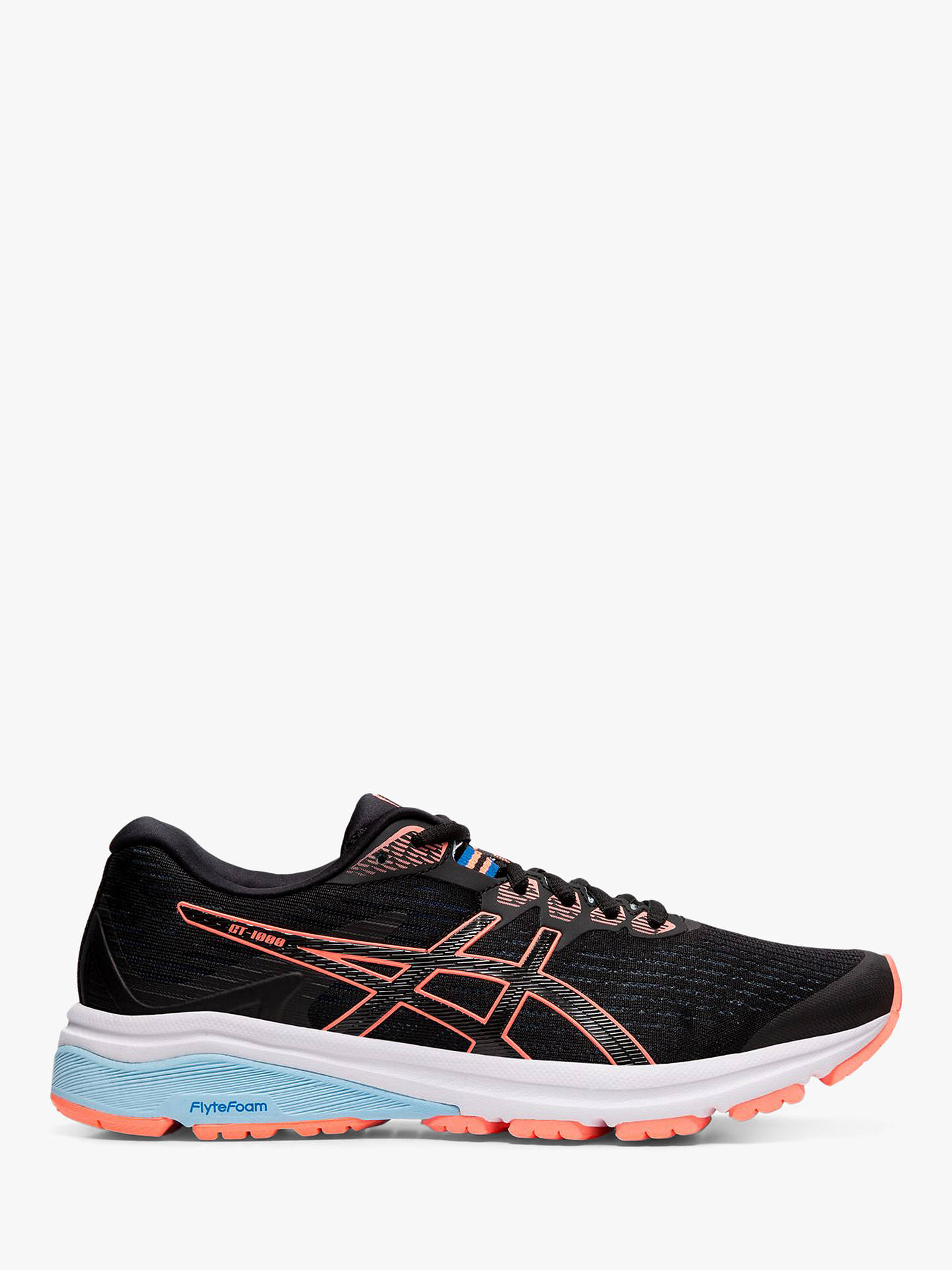 new style 62e05 a9e89 ASICS GT-1000 8 Women's Running Shoes, Black/Sun Coral