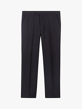 Jaeger Silk Linen Regular Fit Suit Trousers, Navy
