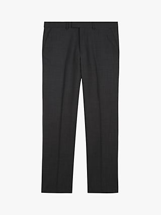 Jaeger Motion Pick And Pick Wool Suit Trousers, Dark Grey