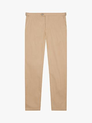 Jaeger Slim Fit Textured Chinos, Dark Orange