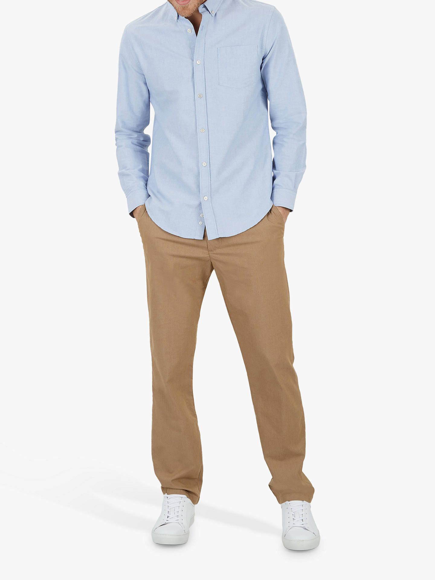 Buy Jaeger Slim Fit Textured Chinos, Dark Orange, 36S Online at johnlewis.com