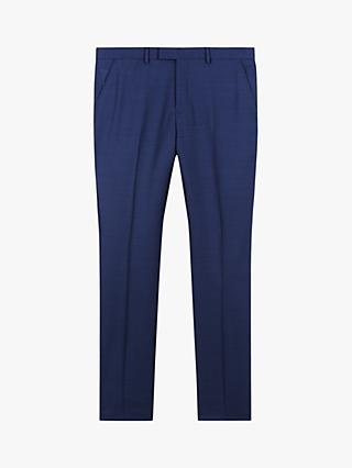Jaeger Wool Mini Texture Slim Fit Suit Trousers, Mid Blue