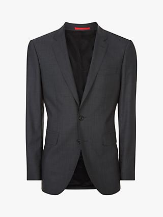 Jaeger Pick And Pick Wool Jacket, Dark Grey