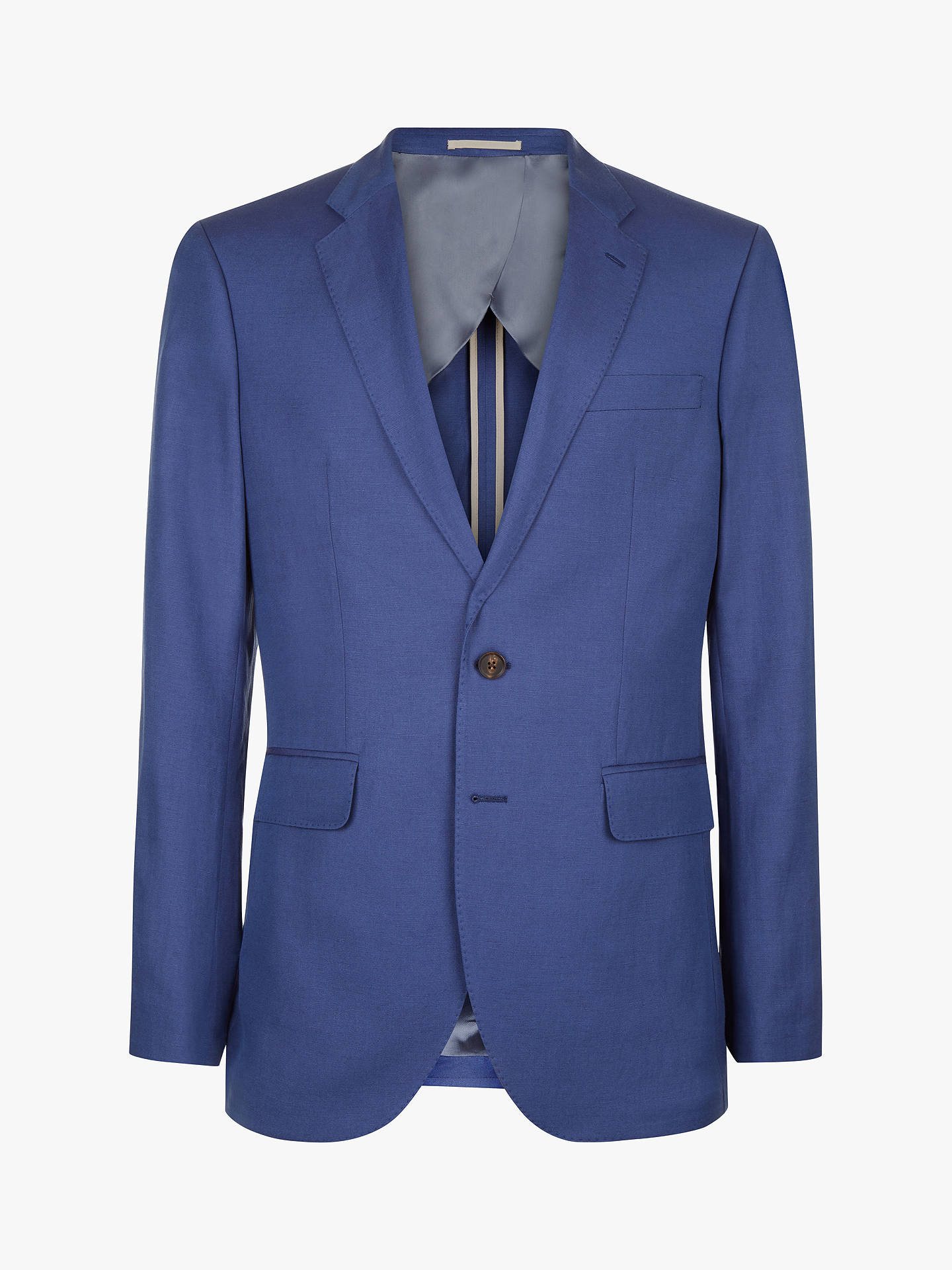 Buy Jaeger Silk Linen Regular Fit Suit Jacket, Light Blue, 44R Online at johnlewis.com