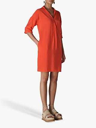Whistles Lea Pocket Shift Dress, Coral