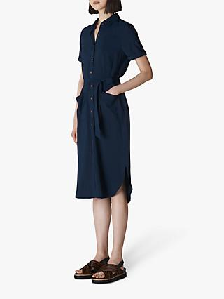 Whistles Montana Shirt Dress, Navy