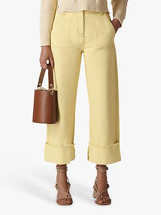 Whistles Fray Hem Jeans, Yellow