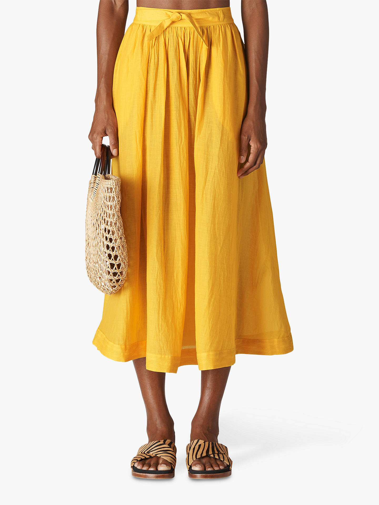 5e97ab16a4 Buy Whistles Voile Beach Full Skirt, Yellow, S Online at johnlewis.com ...