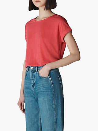 172e388a7b087 Whistles Short Sleeve Linen T-Shirt