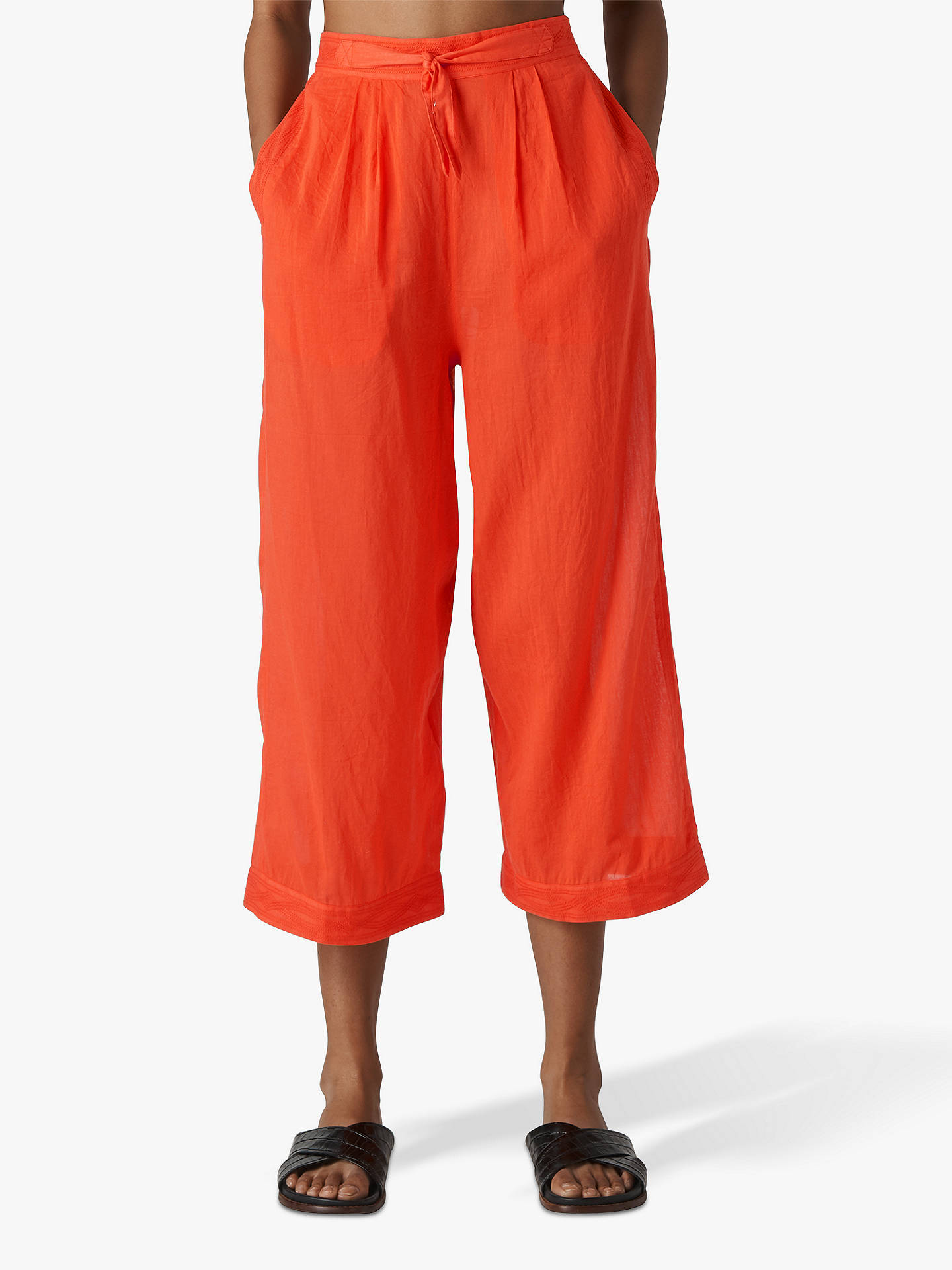 733d64ef54 Buy Whistles Cotton Beach Voile Trousers, Red, XS Online at johnlewis.com  ...