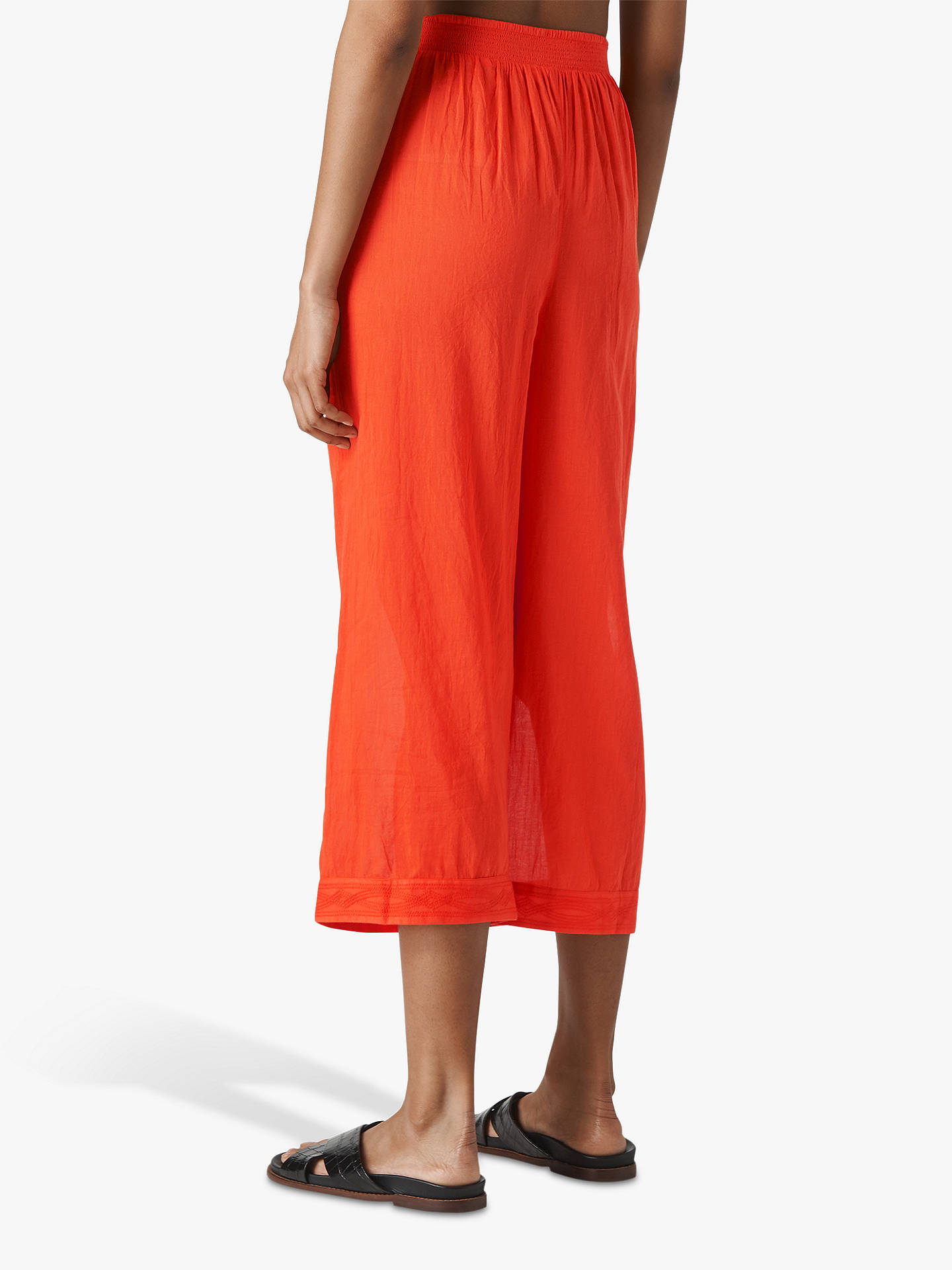 96f01f27d5 ... Buy Whistles Cotton Beach Voile Trousers, Red, XS Online at  johnlewis.com ...