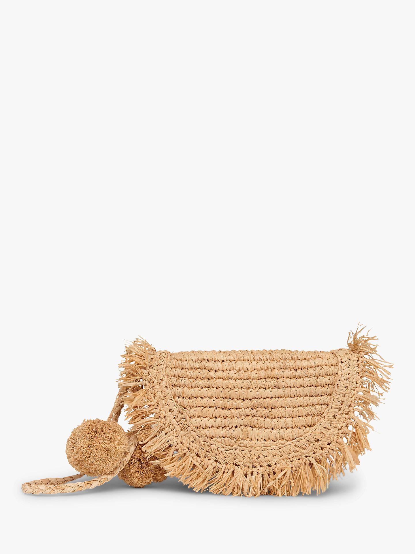 popular stores beautiful design how to serch L.K.Bennett Lucille Raffia Clutch Bag, Natural