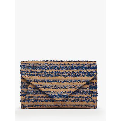 L.K. Bennett Lorna Raffia Envelope Clutch Bag