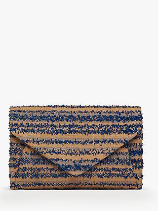 a77751ae91 L.K. Bennett Lorna Raffia Envelope Clutch Bag