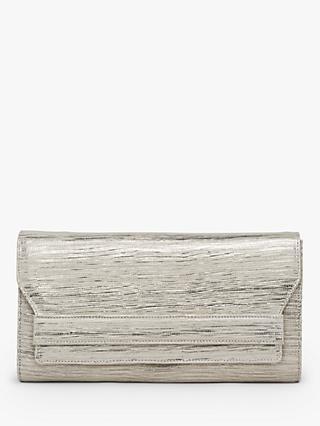 0b4ca62108215 L.K.Bennett Ella Leather Lizard Effect Clutch Bag