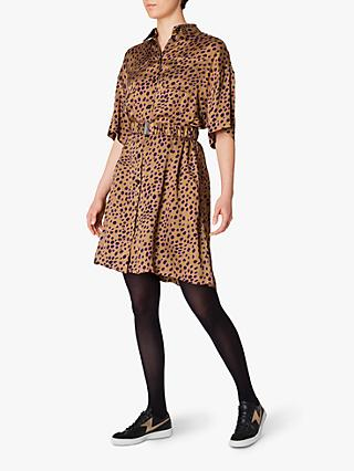 PS Paul Smith Leopard Print Dress, Brown/Multi