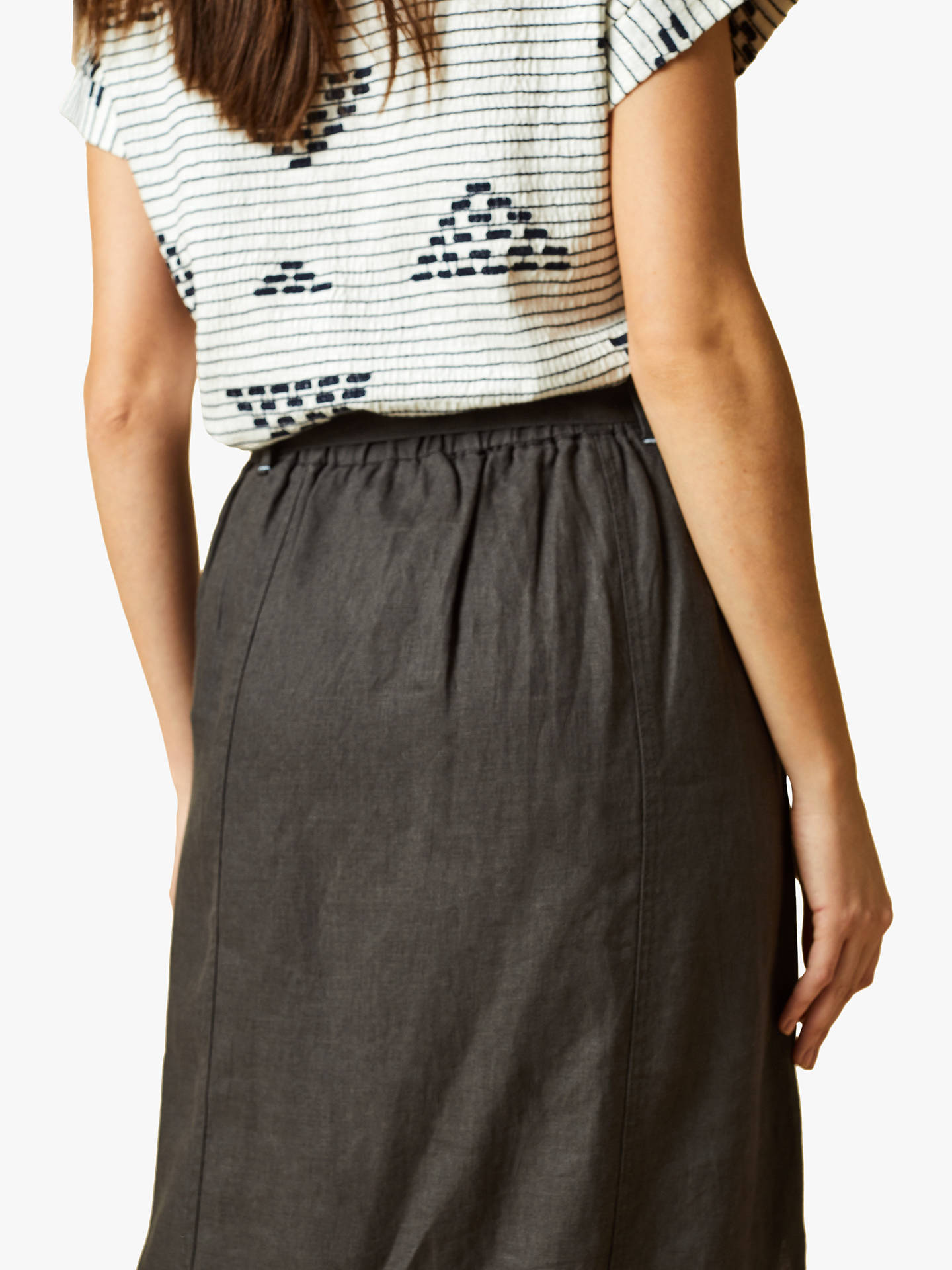 a67a6f4c2484 Buy White Stuff Ione Plain Linen Maxi Skirt, Grey, 8 Online at johnlewis.