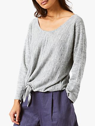 White Stuff Desert Tie Jumper, Grey Marl