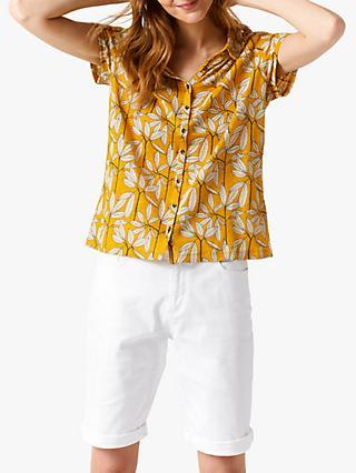 11c4cbe34cccb White Stuff Memon Leaf Print Short Sleeve Shirt