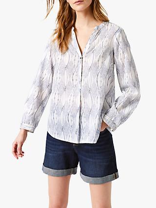 a483ec257d6005 White Stuff Herd Abstract Print V-Neck Shirt