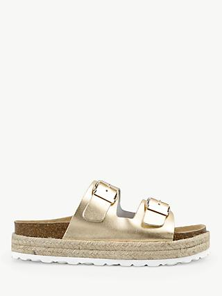hush Woodstock Double Strap Slider Sandals