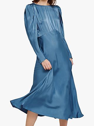 82192fb0289 Ghost Rosaleen Flared Satin Dress