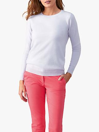 Pure Collection Straight Fit Crew Neck Cashmere Jumper