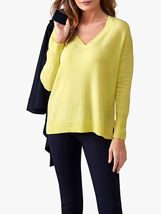44878be03ae3 Pure Collection Relaxed V-Neck Cashmere Jumper