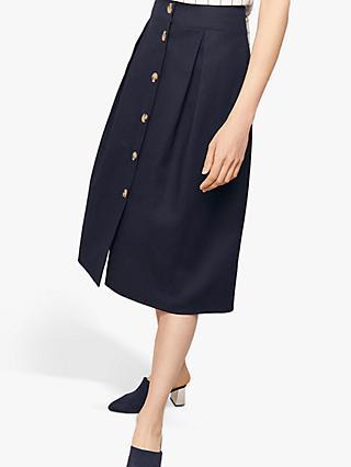 a7d932adb728 Oasis Button Through A-Line Skirt