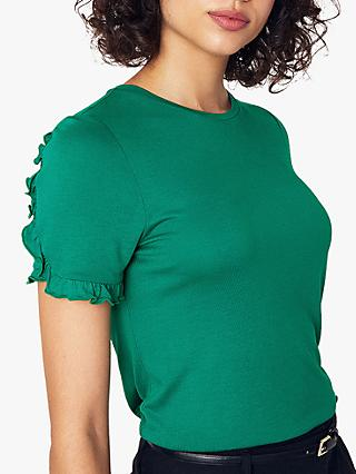 1b41ba5bfe8 Oasis Frill Sleeve T-Shirt